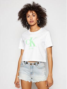 Calvin Klein Jeans Calvin Klein Jeans Marškinėliai J20J215312 Balta Regular Fit