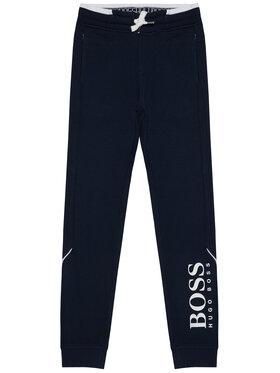 Boss Boss Spodnie dresowe J24J35 S Granatowy Regular Fit