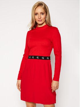 Calvin Klein Jeans Calvin Klein Jeans Φόρεμα υφασμάτινο J20J214862 Κόκκινο Slim Fit