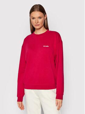 Wrangler Wrangler Sweatshirt Retro W6N0HAR09 Rosa Regular Fit