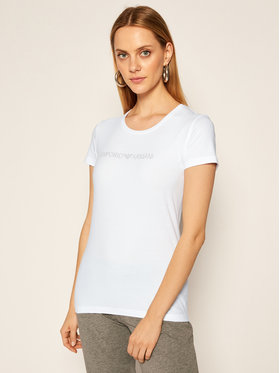 Emporio Armani Underwear Emporio Armani Underwear Marškinėliai 163139 0A263 00010 Balta Slim Fit