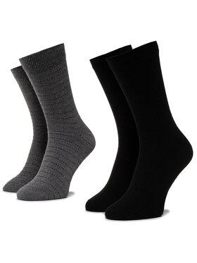 Wrangler Wrangler 2er-Set hohe Herrensocken Stripe Socks W0ZD78100 Schwarz