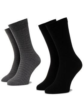 Wrangler Wrangler Lot de 2 paires de chaussettes hautes homme Stripe Socks W0ZD78100 Noir