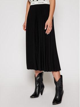 Calvin Klein Calvin Klein Πλισέ φούστα Stretch Flannel Pleat K20K202334 Μαύρο Regular Fit