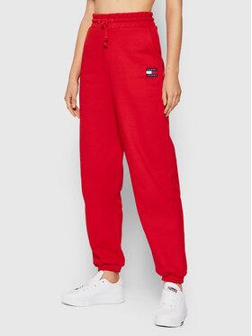 Tommy Jeans Tommy Jeans Teplákové nohavice Tjw Hrs Badge DW0DW09740 Červená Relaxed Fit