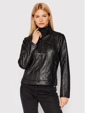 Desigual Desigual Jacke aus Kunstleder Comaruga 21WWEW28 Schwarz Slim Fit