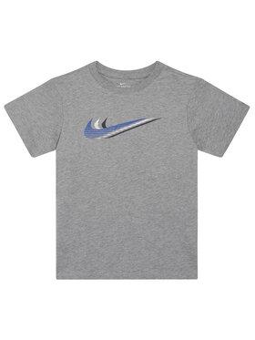 NIKE NIKE Tricou Sportswear Triple Swoosh Kids' Tee CU4572 Gri Standard Fit