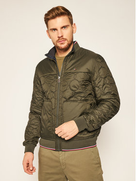TOMMY HILFIGER TOMMY HILFIGER Kurtka bomber Reversible Onion Quilted MW0MW14879 Zielony Regular Fit