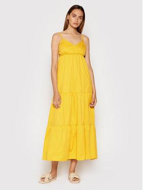 Rinascimento Rinascimento Sukienka letnia CFC0017921002 Żółty Relaxed Fit
