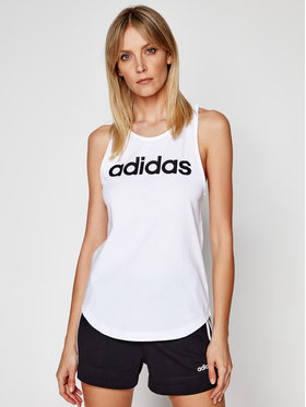 adidas adidas Top Essentials Linear DP2360 Biały Regular Fit