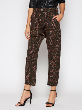 One Teaspoon One Teaspoon Jean boyfriend Leopard Sinner 23486 Marron Relaxed Fit