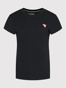 Guess Guess T-Shirt Mini Triangle W1YI0Z J1311 Czarny Regular Fit