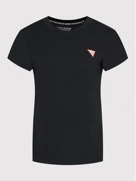 Guess Guess T-Shirt Mini Triangle W1YI0Z J1311 Schwarz Regular Fit