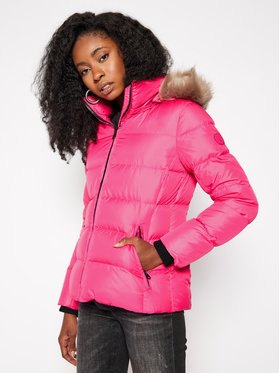 Calvin Klein Calvin Klein Pūkinė striukė Essential Real K20K202317 Rožinė Regular Fit