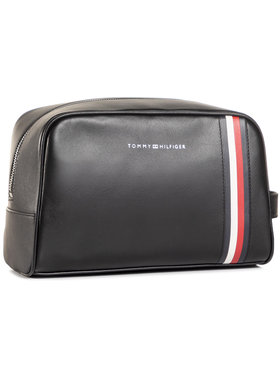 Tommy Hilfiger Tommy Hilfiger Несесер Fine Leather Washbag AM0AM06410 Черен