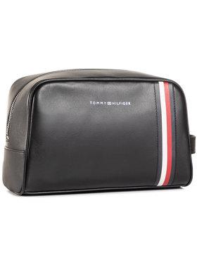 TOMMY HILFIGER TOMMY HILFIGER Τσαντάκι καλλυντικών Fine Leather Washbag AM0AM06410 Μαύρο