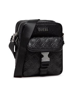 Guess Guess Мъжка чантичка Vezzola (4G Embossed) HMVEZE P1359 Черен