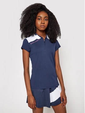 EA7 Emporio Armani EA7 Emporio Armani Polo marškinėliai 3KTF08 TJ3SZ 1554 Tamsiai mėlyna Regular Fit
