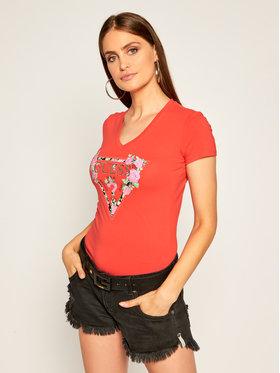 Guess Guess Póló Britney W0YI85 J1300 Piros Slim Fit