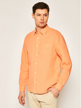 Wrangler Wrangler Camicia Ls 1 Pkt W5A9LOA04 Arancione Regular Fit