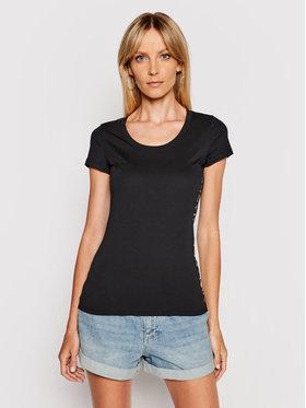 Armani Exchange Armani Exchange T-Shirt 3KYTGU YJW1Z 1200 Czarny Slim Fit