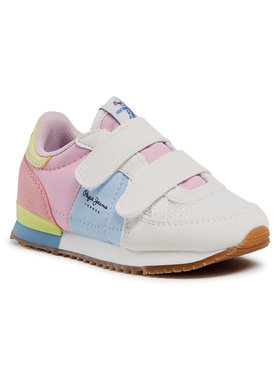 Pepe Jeans Pepe Jeans Sneakersy Sydney Basic Girl PGS30501 Biały