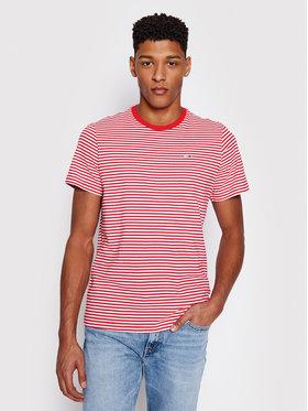 Tommy Jeans Tommy Jeans Tričko Tjm Tommy Classics Stripe Tee DM0DM05515 Červená Regular Fit