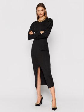 TWINSET TWINSET Sukienka dzianinowa 212TP2064 Czarny Slim Fit