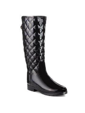 Hunter Hunter Guminiai batai Original Refined Quilted Gloss WFT1031RGL Juoda