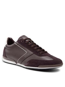 Boss Boss Sneakersy Saturn 50455305 10231638 01 Brązowy
