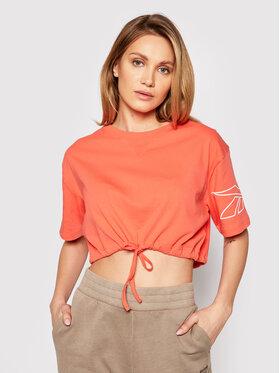 Reebok Reebok T-Shirt Myt Rbk GI6960 Pomarańczowy Regular Fit