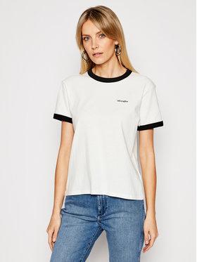Wrangler Wrangler T-Shirt Ringer W7S0DRXV6 Biały Relaxed Fit