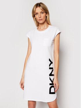 DKNY DKNY Džemper haljina P0RD1B2J Bijela Regular Fit