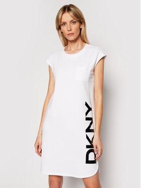 DKNY DKNY Trikotažinė suknelė P0RD1B2J Balta Regular Fit