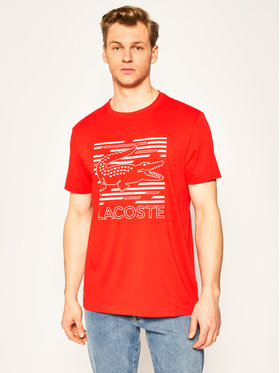 Lacoste Lacoste T-Shirt TH4834 Rot Regular Fit