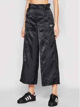 adidas adidas Παντελόνι φόρμας 7/8 Track Pant GN3110 Μαύρο Relaxed Fit