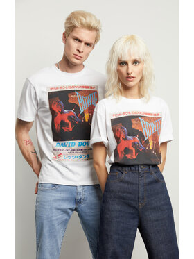Vistula Vistula T-Shirt Unisex David Bowie 4 XA1338 Biały Regular Fit