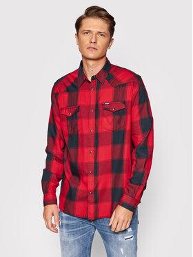 Wrangler Wrangler Košeľa Ls Western W5A03OX47 Červená Regular Fit