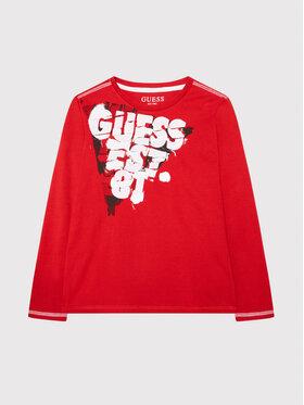 Guess Guess Bluse L1YI17 K8HM0 Rot Regular Fit