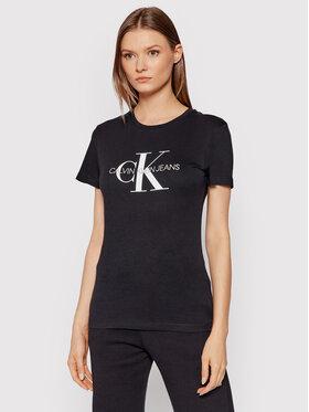 Calvin Klein Jeans Calvin Klein Jeans Tricou Core Monogram Logo J20J207878 Negru Regular Fit