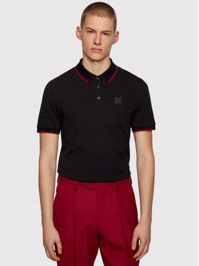 Boss Boss Тениска с яка и копчета Parlay 101 50445486 Черен Regular Fit