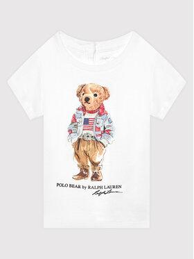 Polo Ralph Lauren Polo Ralph Lauren Тишърт Bear 310850649001 Бял Regular Fit