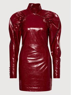 ROTATE ROTATE Dirbtinės odos suknelė Kim RT450 Bordinė Regular Fit