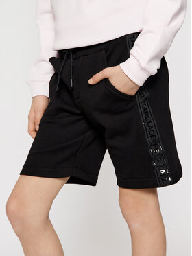 KARL LAGERFELD KARL LAGERFELD Sportske kratke hlače Z24109 S Crna Regular Fit
