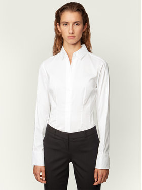 Boss Boss Bluse Bashina6 50290338 Weiß Slim Fit