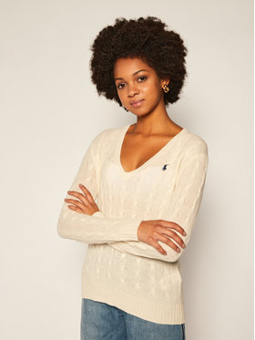 Polo Ralph Lauren Polo Ralph Lauren Pull Kimberly Wool/Cashmere 211508656015 Blanc Regular Fit
