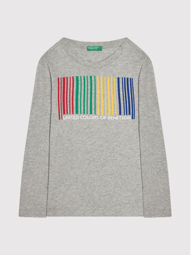 United Colors Of Benetton United Colors Of Benetton Blúz 3I1XC151S Szürke Relaxed Fit