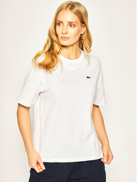 Lacoste Lacoste T-shirt TF5441 Blanc Boy Fit