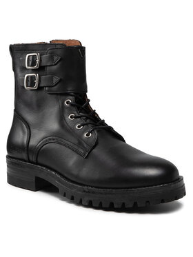 Guess Guess Šnurovacia obuv FMVIG8 LEA11 Čierna