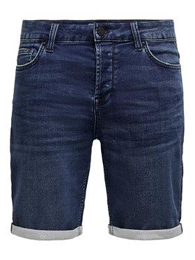 ONLY & SONS ONLY & SONS Džínsové šortky Ply 22018582 Tmavomodrá Regular Fit